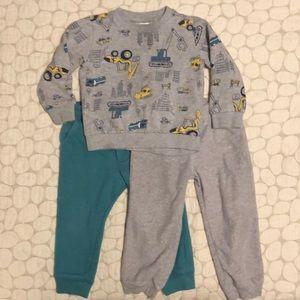 Carter's/Oshkosh boys sweatpants sweatshirt set